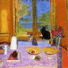 Cats, of course, played symbolic roles as erotic, feminine and domestic mirrors and are included in many of Pierre Bonnard paintings. His wife Marthe...