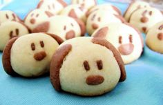 Chocolate puppy dog cookies-cute!