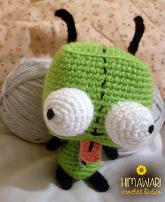 Ravelry: Gir from Invader Zim pattern by Nichole's Nerdy Knots Knitting Yarn, Knitting Patterns, Crochet Patterns, Crochet Ideas, Crochet Toys, Knit Crochet, Crochet Things, Gir From Invader Zim, Geek Room