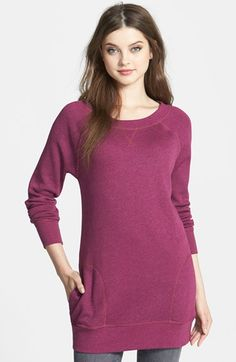 Caslon® Tunic Sweatshirt (Regular & Petite) available at #Nordstrom