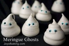 x Merinque Ghosts - one of our family traditions.  Great as a cupcake or hot chocolate topper.