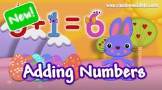 ♥ Easter Bunny adds and counts numbers in English ♪
