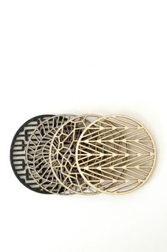 Geometric Coasters.  It's like jewelry for your table! I'm obsessed with these