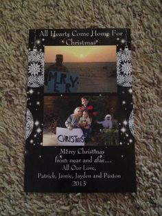 Our deployment Christmas card for this year. All Hearts Come Home For Christmas.....