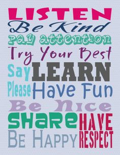 Classroom Rules Printable for Teacher Appreciation Week - * THE COUNTRY CHIC COTTAGE (DIY, Home Decor, Crafts, Farmhouse)