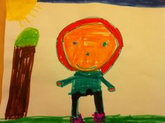 A drawing of a person in marker by Krysta Smurf, 5 years old • Art My Kid Made #kidart