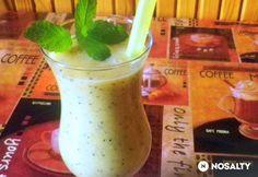 Chia magos trópusi smoothie Chia, Hurricane Glass, Smoothie, Tej, Tableware, Mint, Dinnerware, Dishes, Smoothies