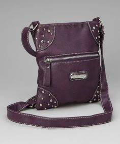 Take a look at this Purple Trisha Crossbody Bag by Patzino on #zulily today!