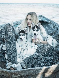 #inspiration @ Rein Love Clothing #photography #art #motivation #nature #husky #StayWild --------------- http://reinloveclothing.com/ https://instagram.com/reinloveclothing/  -------------- Sasha Pivovarova by Mikael Jansson for Vogue US September 2014 This is impossible, but I love it!