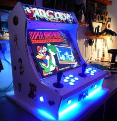 Mini Arcade Machines - Take My Paycheck - Shut up and take my money! Retro Arcade, Pi Arcade, Arcade Bartop, Arcade Stick, Arcade Games, Arcade Room, Consoles, Gaming Cabinet, Super Mario