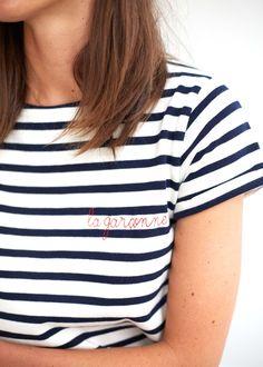 Sézane - T-Shirt Marinière Maison Labiche X Sézane