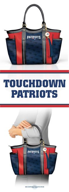 Carry Patriots pride everywhere with this chic shoulder tote bag! Custom-designed with team colors and a logo charm tassel, this is a must-have fashion accessory for New England Patriots fans.