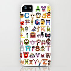 Sesame Street Alphabet iPhone Case by Mike Boon - $35.00
