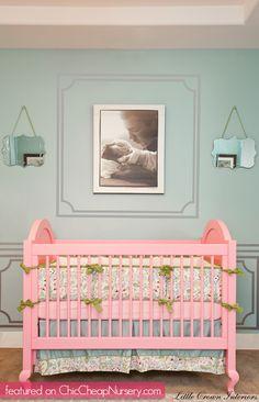 Beautiful picture! Laila Ali's nursery #celebrity #baby #decor