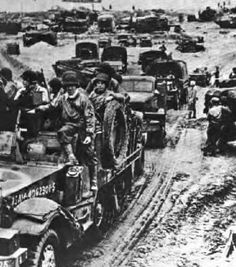 Reinforcements on the way towards Normandy in order to protect the fragile American beachhead.