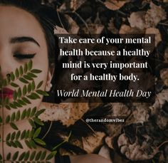 Take care of your mental health because a healthy mind is very important for a healthy body. World Mental Health Day! #2020Worldmentalhealthdayquotes #Worldmentalhealthday #Worldmentalhealthday2020 #Mentalhealthquotes #Healthymindquotes #Mentalwellnessquotes #Mindsetquotes #Strongmindquotes #Healthybodyquotes #Motivationalhealthymindquotes #Mindquotes #Inspirationalmentalhealthquotes #10thoctober #10thoctobermentalhealthday ##Relatablequotes #Deepquote #Emotionalquote #Goodquote… Mental Health Slogans, Positive Mental Health, Health And Wellness Quotes, Mental Health Matters, Mental Strength Quotes, Mental Illness Quotes, Strong Mind Quotes, Positive Quotes, Healthy Body Quotes