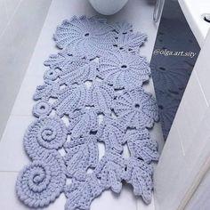 DIY: +10 Tapetes de crochê fora do banheiro ⋆ De Frente Para O Mar