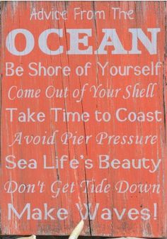 Advise from the Ocean, Uppercase Living