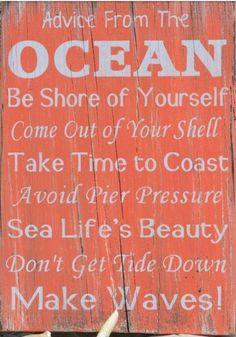 Advise from the Ocean, Uppercase Living