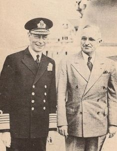 President Truman and King George VI aboard  HMS Renown in August of 1945