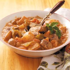 Hungarian Stew Recipes from Taste of Home -- Susan Kain of Woodbine, Maryland