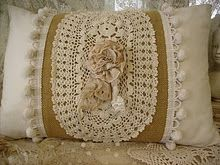 Funny how I cam across this as I'm currently taking a couple of my mother-in-law's crocheted doiles and turning them into pillows.  This gives me some inspiration!