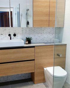 Bathroom vanity timber marbles new Ideas Bathroom Storage Over Toilet, Bathroom Kids, Bathroom Renos, Bathroom Wall Decor, Bathroom Interior, Small Bathroom, Bathroom Black, Best Bathroom Vanities, Bathroom Sink Vanity