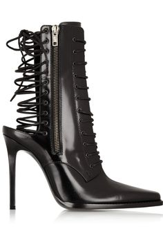 Haider Ackermann | Lace-up leather boots | NET-A-PORTER.COM