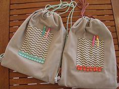 iKAXELA: Drawstring Bags! Drawstring Bags, Backpacks, Fashion, Moda, Fashion Styles, Fasion, Backpack