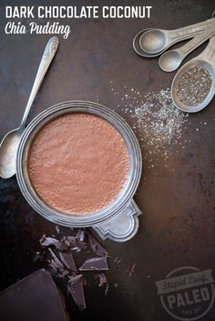 Dark Chocolate Coconut Chia Pudding: Paleo and Dairy-Free | stupideasypaleo.com