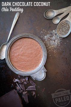 Dark Chocolate Coconut Chia Pudding: Paleo and Dairy-Free   stupideasypaleo.com
