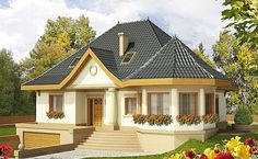 Decorating Your American Bungalow Style House Beautiful House Plans, Beautiful Homes, Small House Design, Modern House Design, Bungalow Style House, My House Plans, House With Porch, Dream House Exterior, Village Houses