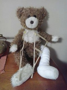 Crutches are made out of hot glue and popsicle sticks. Bible Crafts For Kids, Crutches, Popsicle Sticks, Popsicles, Making Out, Dip, Teddy Bear, Toys, Animals