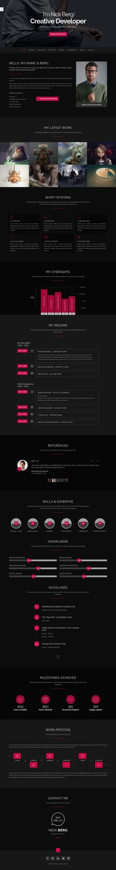 Ultra  Personal CvResume  Vcard Template  Template For Cv