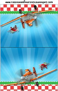 Aviões da Disney (Planes) - Mini Kit com molduras para convites, rótulos para…