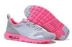 Billige Nike Air Max 1 Sport Sko for Dame Sølv Rosa Grå Online  GRATIS FRAKT VED DHL 624.05kr
