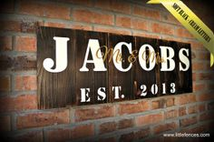 Family Name Signs, Handmade Wooden Signs, Farmhouse Sign, Hand Painted Name Sign, Personalized Housewarming Gift, Name Signs, Wedding Gift on Etsy, $60.00