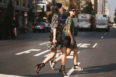 Eva Chen and Emily Weiss, NYFW. For Refinery 29.