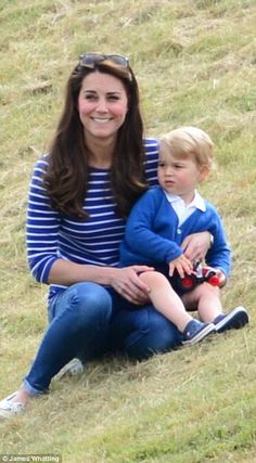 Prince George plays at the polo while Kate unveils her post-baby body #dailymail