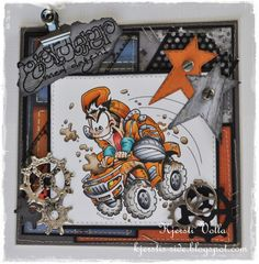 Steampunk KennyK stamp, love the brads and embellishments