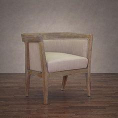 Richmond Beige Linen Arm Chair