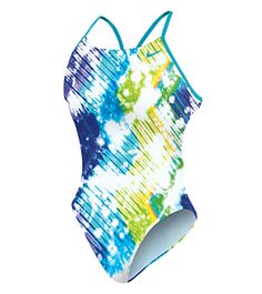 Nike Women's Tie Dye Cut Out Tank at SwimOutlet.com.