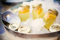 Make Honey Lemonade and ice down in mason jars for a party!!  Another cool idea from Suzy Homefaker!