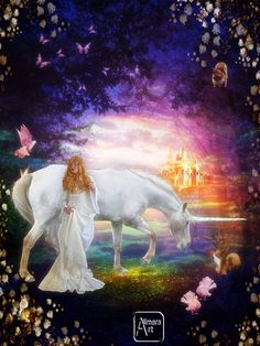 The girl and the unicorn by Alimera