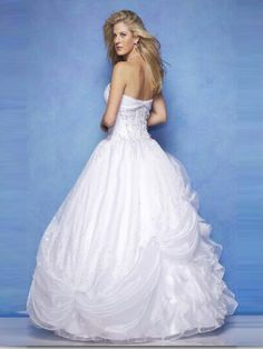 2014Style Ball Gown Sweetheart Applique Sleeveless Floor-length Tulle White Wedding Dress For Brides