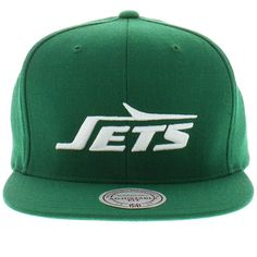 8b6ac0846fe New York Jets Team Colors The Solid Snapback By Mitchell And Ness New Era  Caps