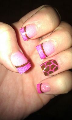 Pink Giraffe nails - maybe with purple instead. :)