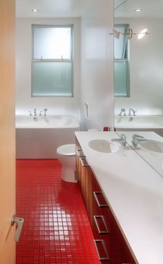32 Best Red Bathrooms Images On Pinterest Bathroom And