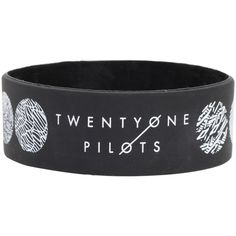 Hot Topic Twenty One Pilots Blurryface Rubber Bracelet ($5.60) ❤ liked on Polyvore featuring jewelry, bracelets, black, rubber bangles, 1920s jewelry, roaring twenties jewelry, 1920s style jewelry and rubber jewelry