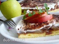 Fotorecept: Jablkovo pudingový koláč - jednoduchý, rýchly koláč...